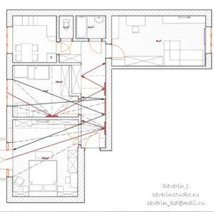 Узкий коридор и зеркала: Схема