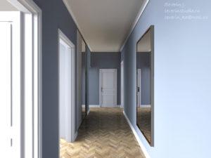 Узкий коридор и зеркала